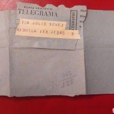 Documentos antiguos: TELEGRAMA LUGO..MADRID. Lote 151003841