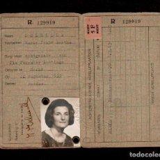 Documentos antiguos: 0017 CARNET DE IDENTIDAD DE UNA CIUDADANA BELGA FECHA 3 DE MAYO DE 1963.. Lote 151078354