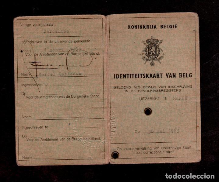 Documentos antiguos: 0017 Carnet de Identidad de una ciudadana BELGA fecha 3 de MAYO DE 1963. - Foto 2 - 151078354