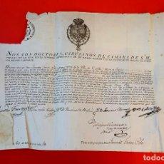 Documenti antichi: DOCTORES CIRUJANOS DE CAMARA - 1816 - SEGOVIA. Lote 151633366