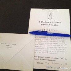 Documentos antiguos: TERTULIA FLAMENCA LA PLANA-VILLARREAL. Lote 151833206