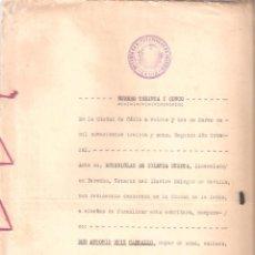 Documentos antiguos: ESCRITURA TESTAMENTO DE D. ANTONIO RUIZ CARBALLO CÁDIZ 22 DE MARZO DE 1938.. Lote 152028314