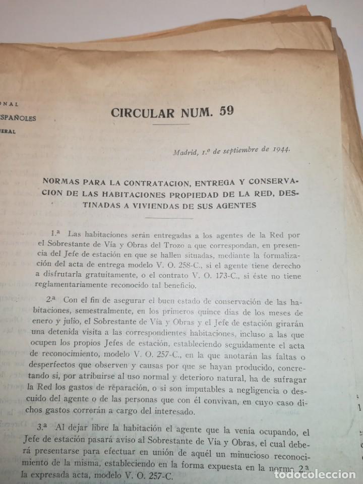 Documentos antiguos: Lote de circulares Renfe desde 1945 a 1974 - Foto 9 - 152062654
