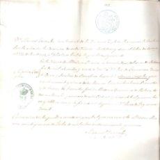 Documentos antiguos: ESCRITURA PARTIDA DE BAUTISMO DE Mª JOSEFA BENITEZ DE FUENTES - MEDINA SIDONIA - 29 JULIO 1859 MANUS. Lote 152169342
