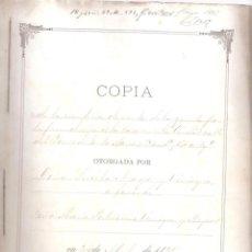 Documentos antiguos: ESCRITURA DE VENTA QUINTA PARTE DECASA C/ DEL TORNO DE SANTA MARÍA CÁDIZ 24 ABRIL 1895. MANUSC. 9 F.. Lote 152181022