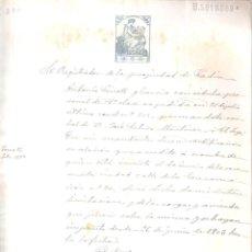 Documentos antiguos: ESCRITURA REGISTRO DE PROPIEDAD CASA C/ ENCARNACIÓN Nº 24 CÁDIZ 26 JUNIO 1903. MANUSCRITO. . Lote 152181866