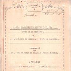 Documentos antiguos: ESCRITURA ACEPTACIÓN HERENCIA Dª JOSEFA PAYAN DE TEJADA. CÁDIZ 22 NOVIEMBRE 1921. 32 FOLIOS. . Lote 152182390