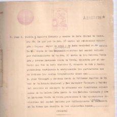 Documentos antiguos: ESCRITURA TESTAMENTO Dª Mª DOLORES VINIEGRA Y OROZCO CÁDIZ 22 FEBRERO 1934. 8 FOLIOS. . Lote 152185506