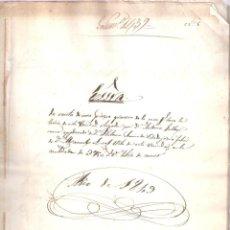 Documentos antiguos: ESCRITURAVENTA PIEZA GRANERO CASA DE LA TERCIA D. MANUEL LEAL VITA. MERIDA 10 SEPTIEMBRE 1849. MANUS. Lote 152186078
