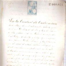 Documentos antiguos: ESCRITURA PODERES A D. JOSÉ ALVAREZ DE PARTE DE D. JUAN ALVAREZ CÁDIZ 30 MAYO 1871. MANU. 12 FOLIOS.. Lote 152187934