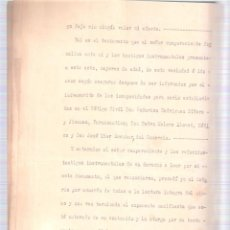 Documentos antiguos: ESCRITURA TESTAMENTO D. ANTONIO RUIZ CARBALLO CÁDIZ 22 MARZO 1938. MANUSCRITO 7 FOLIOS. . Lote 152188994