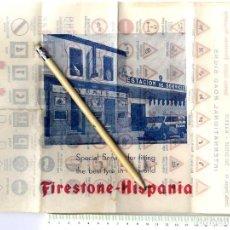 Documentos antiguos: MADRID PUBLICIDAD ESTACIÓN SERVICIO YUSTE RUEDAS FIRESTONE 29 X 21 CM . Lote 152191406