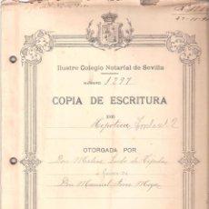 Documentos antiguos: ESCRITURA HIPOTECA C/ TROILO Nº 2 CÁDIZ 3 NOVIEMBRE 1911. MANUSCRITO 13 FOLIOS. . Lote 152193622