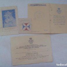 Documentos antiguos: SEMANA SANTA DE SEVILLA : LOTE HERMANDAD ESPERANZA ( TRINIDAD ): ESTAMPA Y DOCUMENTOS . AÑOS 70.. Lote 152238034