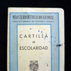 Documentos antiguos: CARTILLA DE ESCOLARIDAD. COLEGIO SAN VICENTE FERRER, VALENCIA 1954. Lote 152429566