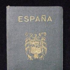 Documentos antiguos: PASAPORTE MATRIMONIO, EXPEDIDO POR CONSULADO DE ESPAÑA EN CARACAS, 1953. MUCHOS VISADOS Y SELLOS. Lote 152430962