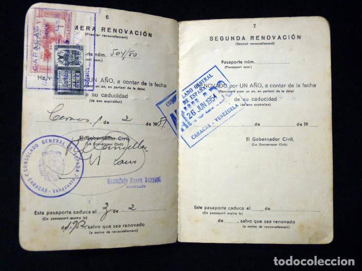 Documentos antiguos: PASAPORTE MATRIMONIO, EXPEDIDO EN SAN SEBASTIAN, 1950. CONSULADO CARACAS. TITULO CHOFER + PAPELES - Foto 6 - 152431038