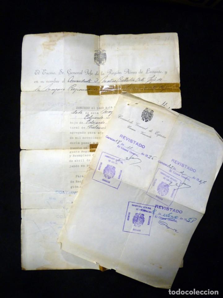 Documentos antiguos: PASAPORTE MATRIMONIO, EXPEDIDO EN SAN SEBASTIAN, 1950. CONSULADO CARACAS. TITULO CHOFER + PAPELES - Foto 18 - 152431038