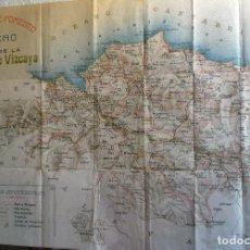 Documentos antiguos: 1920 - 30 MAPA PLANO DE LA PROVINCIA DE VIZCAYA DEL M. DE FOMENTO 60 CM.. Lote 152479690
