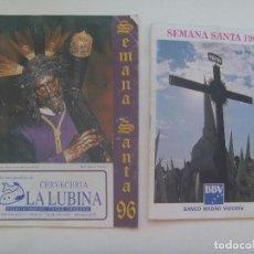 Documentos antiguos: SEMANA SANTA DE SEVILLA : LOTE DE 2 GUIAS O PROGRAMAS DE COFRADIAS DE 1996 Y 1997. Lote 152489758