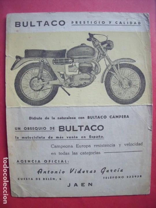 BULTACO.-BULTACO CAMPERA.-MOTOCICLETAS.-ANTONIO VIDERAS GARCIA.-MOTOS.-JAEN. (Coleccionismo - Documentos - Otros documentos)