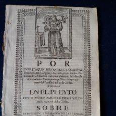 Documentos antiguos: PLEYTO DE TIERRAS. S. XVII.. Lote 152868490