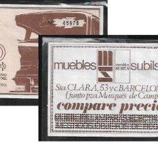 Documentos antiguos: BOLETO SORTEO SEAT 850 -AÑO 1971 - AAVV CARRER NOU (GIRONA ). Lote 152912498