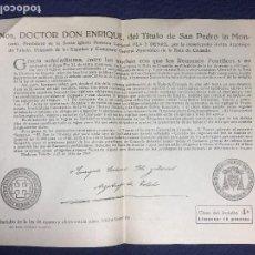 Old Documents - documento de indulto ley de ayuno abstinencia dado por arzobispo de toledo don enrique año 1963 - 153055874