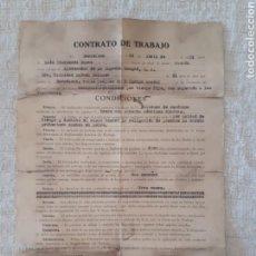 Documentos antiguos: ANTIGUO CONTRATO TRABAJO 1955 SANGRÁ S.A.. Lote 153089530