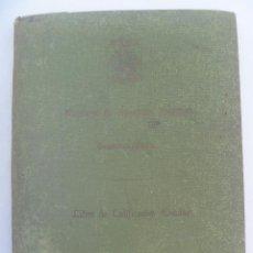 Documentos antiguos: MINISTERIO EDUCACION NACIONAL : LIBRO CALIFICACIONES INSTITUTO DE CEUTA. CEUTA, 1941. Lote 153241714