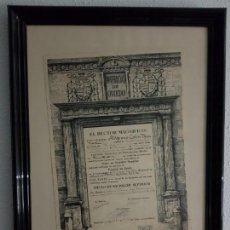 Documentos antiguos: TÍTULO BACHILLER SUPERIOR 1962 DE ULPIANO COLIN ALVAREZ ENMARCADO. Lote 153318726