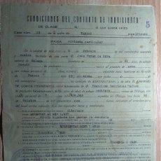 Documentos antiguos: DOCUMENTO DE INQUILINATO DE 1944. Lote 153329134