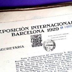 Documentos antiguos: DOSSIER - PALACIO NACIONAL - BARCELONA - EXPOSICIÓN 1929. Lote 153463310