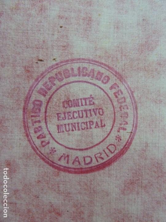 Documentos antiguos: PROGRAMA ESTATUTOS Y REGLAMENTOS DEL PARTIDO REPUBLICANO DEMOCRÁTICO FEDERAL. AÑO 1931 - Foto 2 - 154112806