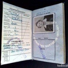 Documents Anciens: PASAPORTE PERIODISTA DE GRAN BRETAÑA,(COMPL.32 PAG.) EXP.1948,MUCHAS VISAS Y VIÑETAS (DESCRIPCIÓN). Lote 154272706
