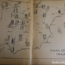 Documentos antiguos: ESPAÑA MAPA DEL TRAJE ESPAÑOL 1933 29 X 41 CMTS. Lote 154356834
