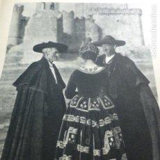 Documentos antiguos: TUREGANO SEGOVIA TIPOS ANTIGUA LAMINA HUECOGRABADO 1933 21 X 29 CMTS. Lote 154357770