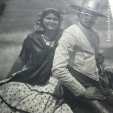 Documentos antiguos: ANDALUCIA JINETES ANTIGUA LAMINA HUECOGRABADO 1933 21 X 29 CMTS. Lote 154360334