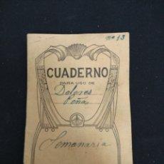 Documentos antiguos: ANTIGUO CUADERNO PARA USO DE. Lote 154507701