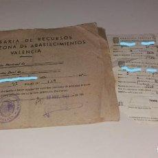 Documentos antiguos: PAPEL ANTIGUO. COMISARÍA DE RECURSOS, 4ª ZONA ABASTECIMIENTOS (VALENCIA). CUADERNO COSECHAS, 1943. Lote 154869610