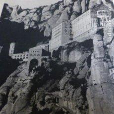Documentos antiguos: MONTSERRAT BARCELONA ANTIGUA LAMINA HUECOGRABADO AÑOS 40. Lote 154870802