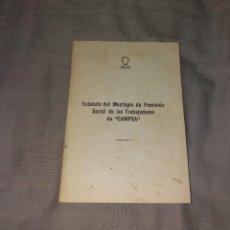 Documentos antiguos: PAPEL ANTIGUO. ESTATUTO DEL MONTEPÍO DE PREVISIÓN SOCIAL DE LOS TRABAJADORES DE CAMPSA. Lote 154871402