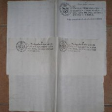 Documentos antiguos: 2 DOBLES FOLIOS DE PAPEL TIMBRADO: 1813 Y 1814. Lote 154999406