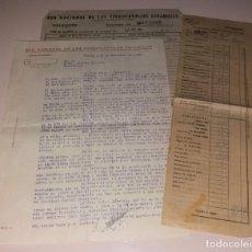 Documentos antiguos: PAPEL ANTIGUO. RENFE. EXPLOTACIÓN, DIVERSOS PAPELES AÑOS 40-50 (INCIDENCIAS, ABONOS, CORREO). Lote 154999934