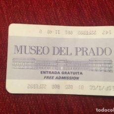 Documentos antiguos: R5653 ENTRADA TICKET MUSEO DEL PRADO MADRID 1992. Lote 155008838