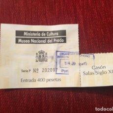 Documentos antiguos: R5667 ENTRADA TICKET MINISTERIO DE CULTURA MUSEO NACIONAL DEL PRADO. Lote 155015058