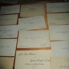 Documentos antigos: ALBUM 120 ANTIGUAS TARJETAS IMPORTANTES JOYERIAS DE MADRID AÑOS 40 ALGUNAS MANUSCRITAS VER FOTOS. Lote 155038078