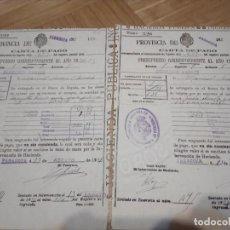 Documentos antiguos: DOS CARTAS DE PAGO ZARAGOZA, DEL PRESUPUESTO CORRESPONDIENTE AL AÑO 1921-22.HACIENDA. Lote 155400822