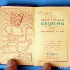 Documentos antiguos: ANTIGUA AGENDA DE TELÉFONOS DE BOLSILLO CON PUBLICIDAD.:ARTES GRÁFICAS GRIJELMO ( BILBAO). AÑO 1951. Lote 155411414