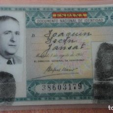 Documentos antiguos: ANTIGUO DNI.DOCUMENTO NACIONAL IDENTIDAD.VERDE 1ª CLASE.BADALONA 1953. Lote 155504854